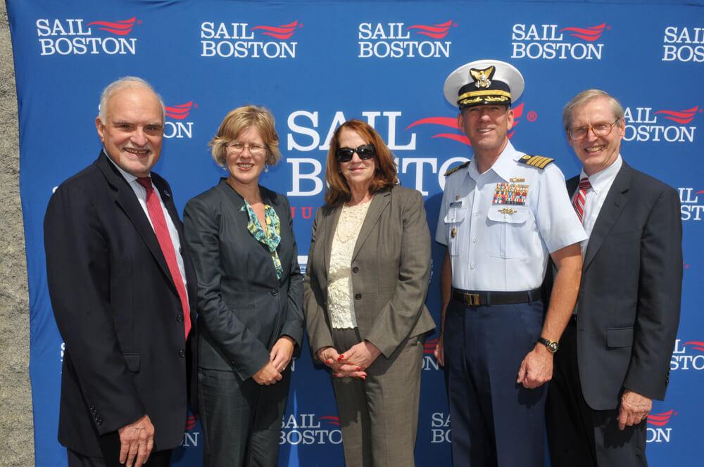 Patrick B. Moscaritolo, Deb Hadden, Therese Murray, Capt. John O'Connor, and Michael Mooney