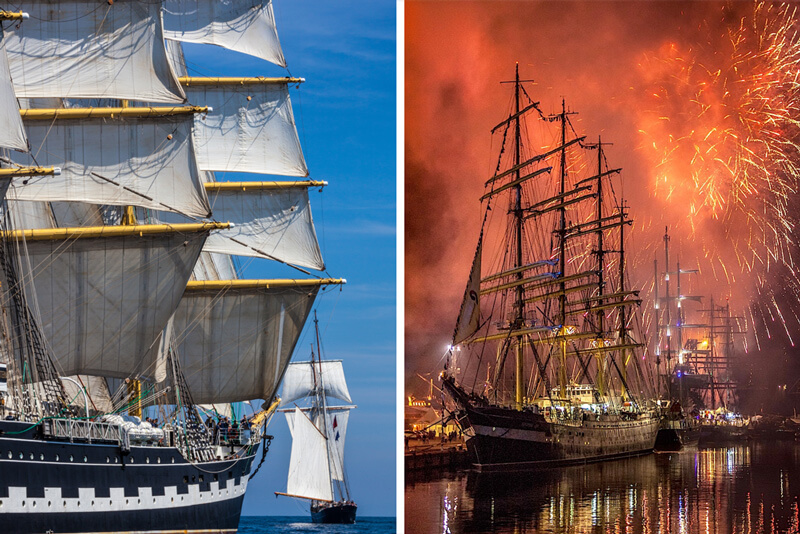 Ships in the Rendez-Vous 2017 Tall Ships Regatta