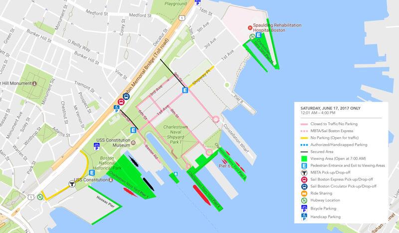 Traffic Map Boston.Street Impact Sail Boston