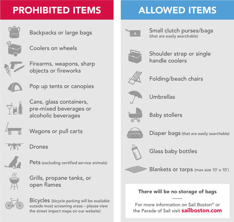 Prohibited and Allowed Items PDF