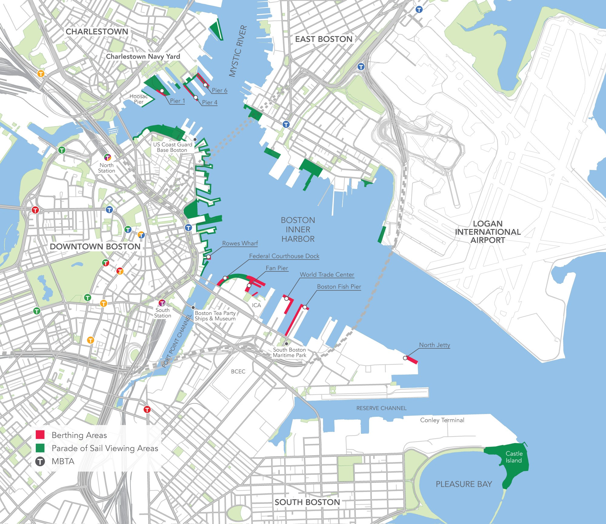 Inner Harbor Map Sail Boston